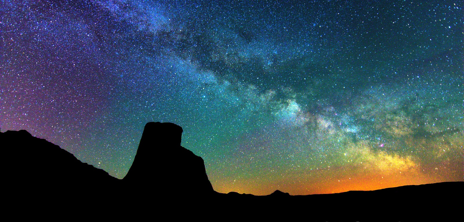 Avonlea Badlands - Hoodoo Silhouette and Milky Way