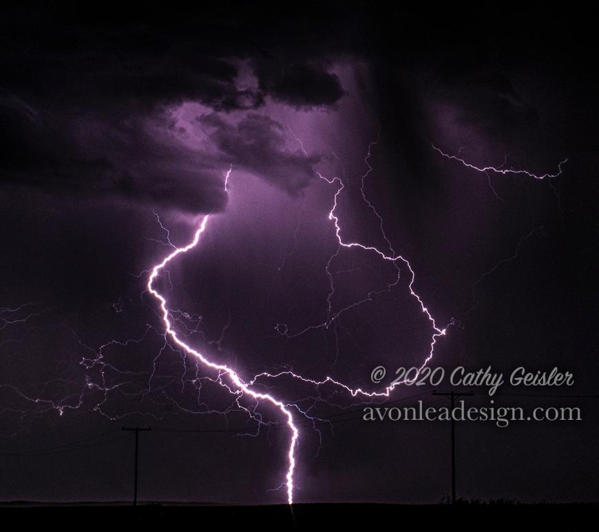 Lightning near Avonlea